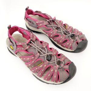 Keen Whisper Sport Sandal - Pink/Gray Women's 10.5